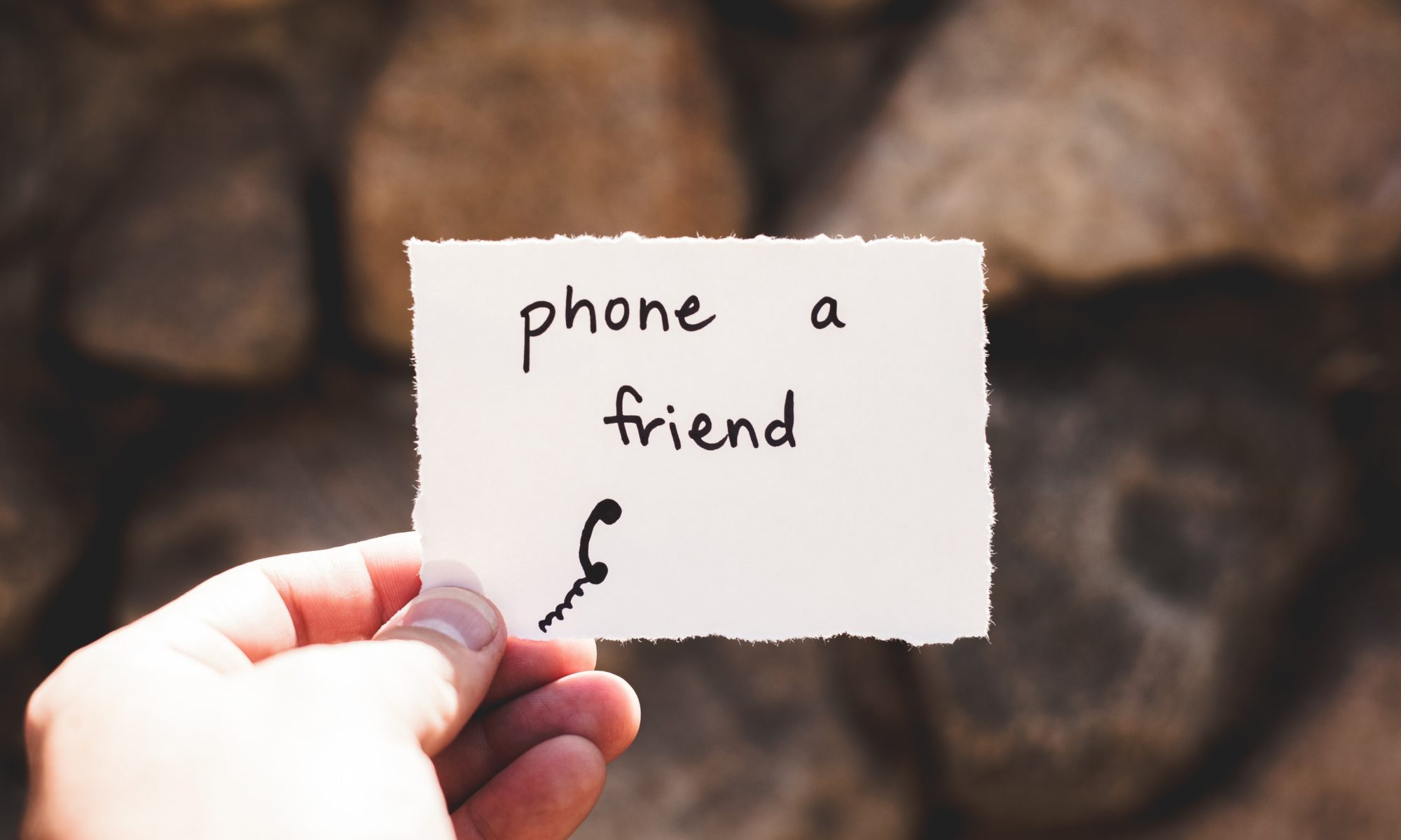 Piece of paper that says phone a friend